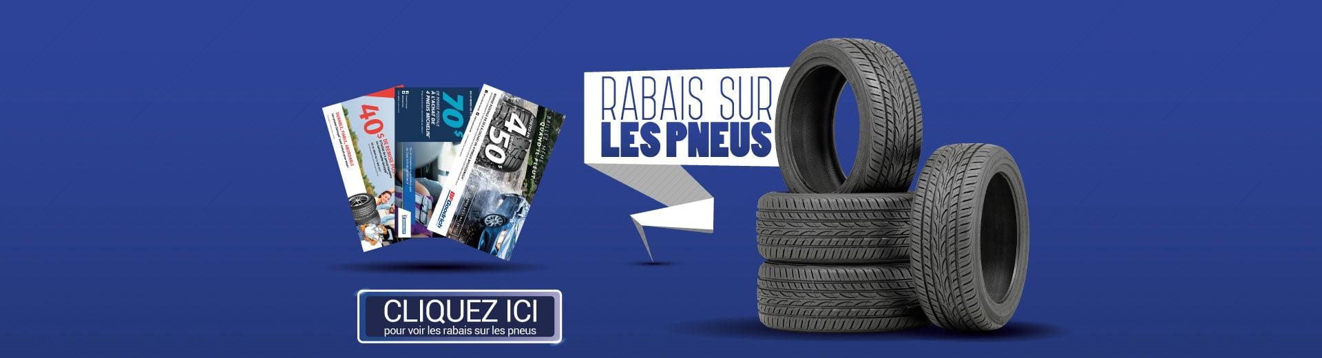 Affiche de rabais pneus
